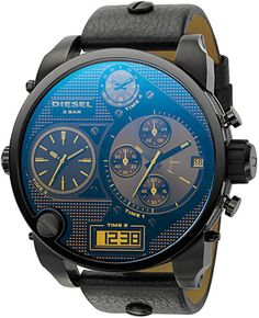 "The top 4 things that man just can't get enough is cold beers, firearms, and hot babes oh yeah and bad ass watches. The new Time zone collection from Diesel is truly bad ass, sizes from 57mm to 65mm really it doesn't matter if you're into sporting a black on black or a more sophisticated look, they have something for everyone. According to Diesel, when wearing an time zone watch ""You are the accessory"" (retail $300)"