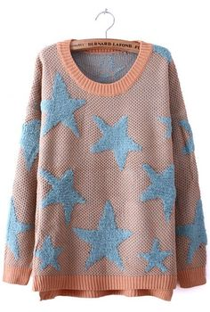 Pink Blue Star Pattern