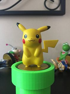 3D Printed Amiibo Stand 3D Printed Amiibo Stand Warp Pipe 3D