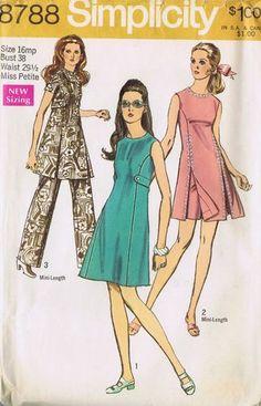 Vintage Dress Pants Sewing Pattern Simplicity 8788