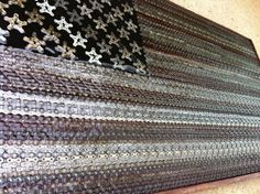 The American Flag Made of Bike Parts