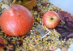Jesienne pudełko sensoryczne - Liliowe Projekty Apple, Fruit, Food, Apple Fruit, Essen, Meals, Yemek, Apples, Eten