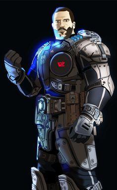 My Avatar Gears Of War. Vector Adobe Illustrator + Adobe Photoshop
