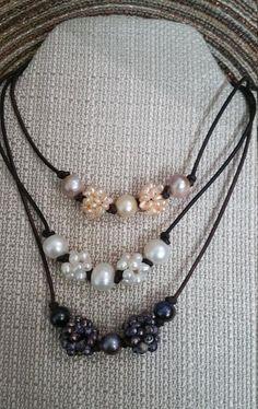 5539facf3768 9 mejores imágenes de Collares de perlas de agua dulce