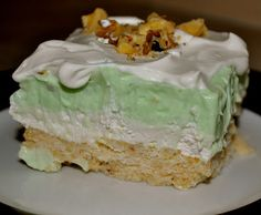 Pistachio Pudding Bars - super easy, and really tasty! Plus, it was the perfect dessert for St. Patrick's Day!