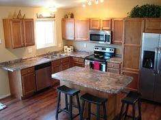"Small L Shaped Kitchen Remodel kitchen remodel on a small budget, we have a typical ""l"" shaped"
