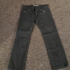 Men's jeans 100% cotton Rocco slim fit straight leg men's express jeans. Great condition. Gray color. Size 32 x 30 Express Jeans Straight Leg