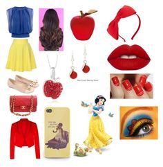 """""""Disney Snow White"""" by jodeelcpalisoc on Polyvore featuring QNIGIRLS, Monsoon, Chanel, Kate Spade, City Chic, SoGloss, Lime Crime, Charming Life and Daum"""