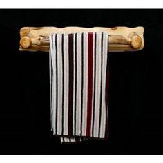 Aspen Log Towel Bar- Cabin Decor.  Made in the USA.