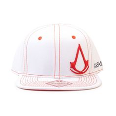 Assassins Creed Iv Black Flag Adjustable 100% cotton white baseball cap with snapback adjustable flat brim and a size adjuster strap for a comfortable fit. Featuring an embroidered 3D red embossed logo of the classic crest logo from Assassin http://www.MightGet.com/march-2017-1/assassins-creed-iv-black-flag-adjustable.asp