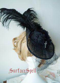 Surface Spell ***Siren*** Gothic Vintage Lolita Hat$49.99-Lolita Headdress - My Lolita Dress