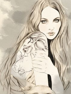 """""""Halina"""" by Kelly Thompson from her """"Tribute to Tattoo"""" exhibition."""
