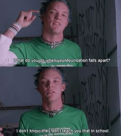 SLC Punk an amazing movie. I've prolly watched it of times. 90s Movies, Good Movies, Movie Tv, Amazing Movies, Punk Quotes, Movie Quotes, Albert Camus, Movies Showing, Movies And Tv Shows