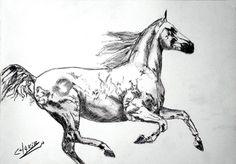"My Latest Work. Saatchi Artist CHAKIB BENKARA; Drawing, ""FREE SPIRIT IV"" #art"