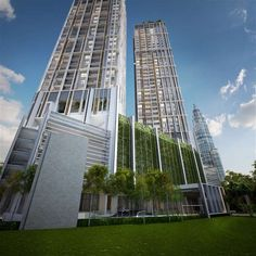 New Serviced Residence for sale at The Mews, KLCC by Eastern & Oriental Berhad. Futuristic Architecture, Facade Architecture, Residential Architecture, Contemporary Architecture, Amazing Architecture, Building Elevation, Building Facade, Building Design, Building Sketch