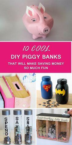 3c37a9b46c1 10 Cool DIY Piggy Banks That Will Make Saving Money So Much Fun Piggy Banks
