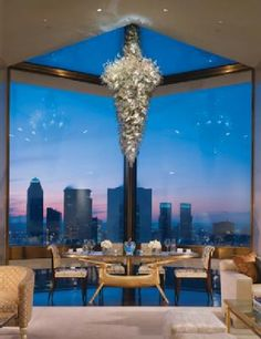 The world's most expensive suite is the Ty Warner penthouse at the Four Seasons New York, with a reported 34,000 dollar per night price tag.