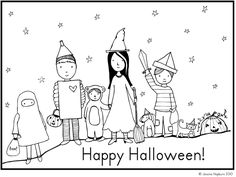 Free Halloween coloring page