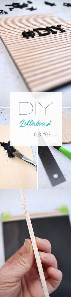Do it yourself: craft wooden letterboards in the Skandilook yourself - Diy and Crafts Diy Craft Projects, Craft Tutorials, Decor Crafts, Easy Crafts To Sell, Diy Crafts For Kids, Diys, Do It Yourself Inspiration, Idee Diy, Diy Home Decor On A Budget