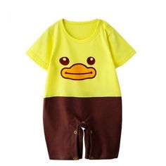 Baby Summer Onesies,Unisex,Cartoon Animal cute Baby Romper - Qclouth