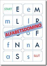 alfabetsdomino och bokstavsdomino