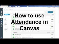 Just a quick video showing the attendance feature in Canvas. Here are the official Canvas community help tu. Teaching Activities, Learning Resources, Teaching Tools, Teacher Resources, Instructional Technology, Instructional Strategies, Educational Technology, Canvas Instructure, Canvas Learning Management System