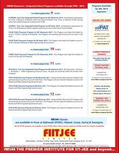 FIITJEE Programs
