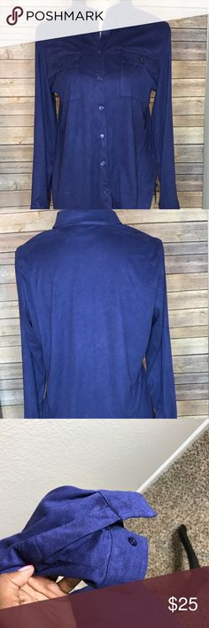 Chico's Navy Blue Button Down Shirt Size 2 : Long sleeve  ⁉️Need more information or measurements? Please don't hesitate to ask  ❌Sorry, I am unable model items!  ✅ Fast Shipper: Shipping Same Day/Next Day  🚫I do not trade items/ No returns  💕I do accept REASONABLE offers ☺ Please do not offer really low on an item.  The prices in my store are pretty low 🙃 Chico's Tops Button Down Shirts