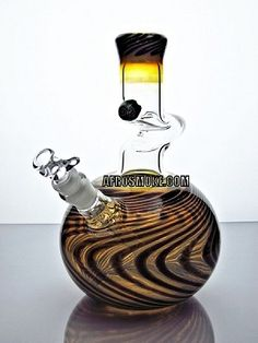 """ZONG! 10"""" Worked Bubble 1 Kink Water Pipe - Black"""