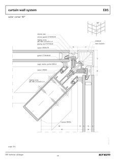 bank izimleri ETEM - catalogue - Page Curtain Wall Detail, Glass Curtain Wall, Window Detail, Texture Architecture, Plans Architecture, Architecture Design, Technical Architecture, Architecture Diagrams, Architecture Portfolio
