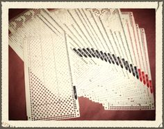 FREE Punch Card Patterns by Brother, KnitMaster, Silver Reed and Studio knitting machine lines, including separate cards and Stitch Pattern Books with 100's of patterns, AboutKnittingMachines.com