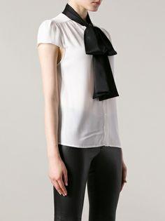 American Apparel Tie Neck Blouse 10