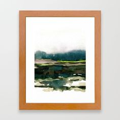 layers of colour 1 Framed Art Print