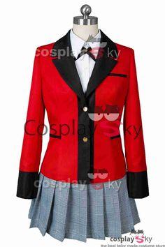 Kakegurui Compulsive Gambler Yumeko Jabami Hyakkaou Cosplay Costume #cosplaysky_fr #cosplay