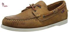 Sebago Docksides Chaussures Bateau Homme, Marron (Brown/White O/Sole), 48 - Chaussures sebago (*Partner-Link)