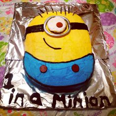 Minion cake I made for Louis for his bday!