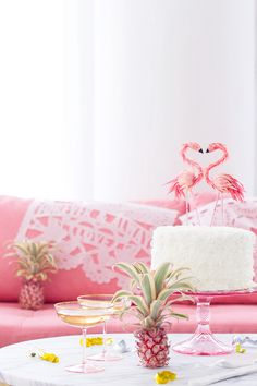 What's even better than a pink couch? A BHLDN giveaway