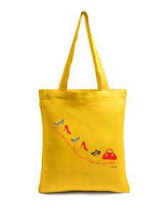 """Green Shopping """" Yellow no shoes """"   Buy @ inhoma.de #inhoma #Einkaufstaschen #ModischeTaschen #KleineTaschen"""