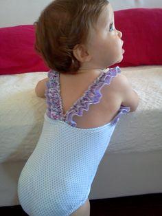 Fatos banho rapariga 2013 - modelo folho - refª roxo