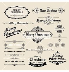 Christmas vintage design vector - by aviany on VectorStock®