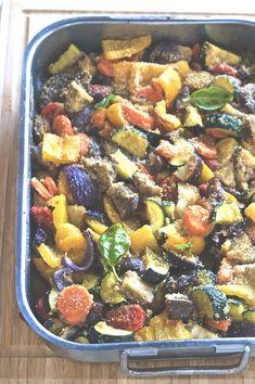 Mix di verdure al forno   la pancia del lupo