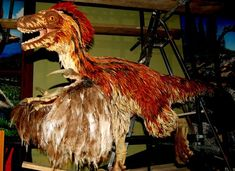 Model of Imagined Dinosaur (Bird/Reptile Meld) by Curious Expeditions, via Flickr