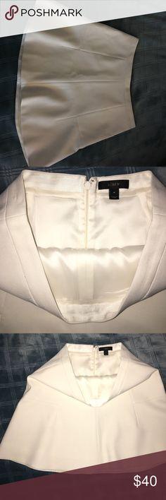 J. Crew White Flare Crepe Skirt White Flare Crepe Skirt worn once creamy white J. Crew Skirts A-Line or Full