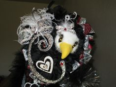 Homecoming Mums Top with bling & Eagle