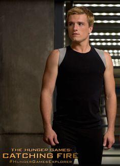Josh Hutcherson as Peeta Mellark in The Hunger Games: #CatchingFire. (Photo credit: Murray Close)