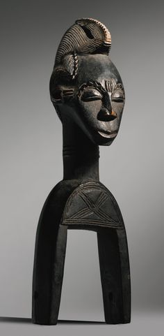 Africa | Heddle pulley from the Guro people of the Ivory Coast | Wood | ca. early 1930s