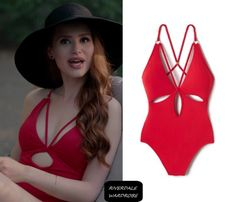 """Cheryl Blossom wears this Robin Piccone """"Ava"""" one-piece swimsuit on Riverdale 2x06"""