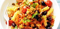 neapolitan pasta: this meatless dish makes a nice change from the usual spaghetti and meatballs.