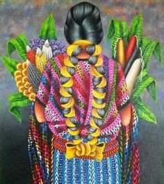 Mujer y maíz.