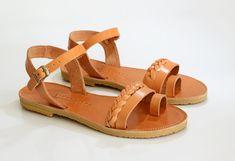 Sandals, Leather sandals women, Handbraded ankle strap sandals, Greek sandals